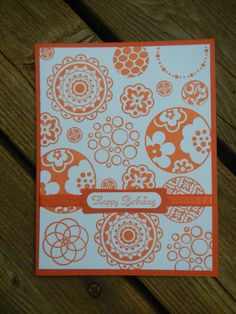 Handmade Stampin Up Birthday Card - Circle Circus