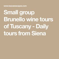 Small group Brunello