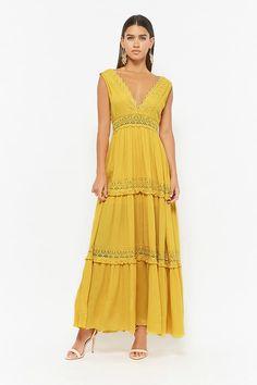 Product Name:Crochet-Trim Maxi Dress, Category:dress, Price:39.9