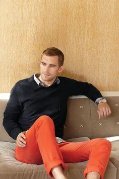 Pantalones Vince naranjas!