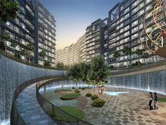 D'nest @ Pasir Ris Launching Soon Call Sales Hotline 61009989 to enjoy VVIP Discount Beautiful Architecture, Landscape Architecture, Landscape Design, Garden Design, Landscape Plane, Landscape Concept, Public Space Design, Water Walls, Water Element