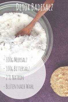 Eine ganz easy Badesalz-Mischung zum Entgiften
