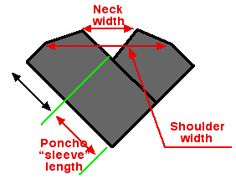Design your own poncho.....two pieces
