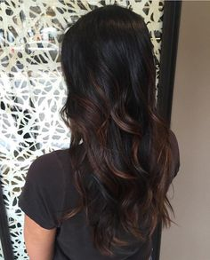 Top best Balayage hairstyles for natural black and brown hair.This subtle Balayage hairstyle looks completely natural and more stylish on long hairs. A subtle balayage is a hair color solution you can safely afford no matter what . Subtle Balayage, Balayage Highlights, Hair Color Balayage, Ombre Hair, Bayalage Black Hair, Balayage Hair Dark Black, Balayage Hairstyle, Blonde Balayage, Highlights For Dark Brown Hair