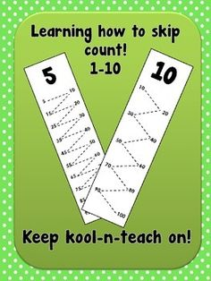 Use these bookmarks to practice counting 1 by 1 or any other number up to to! In my classroom (K) I use these to practice skip counting by 2's, 5's and 10's and of course 1 by 1. They are easy to set up and students will learn exactly how to skip count.