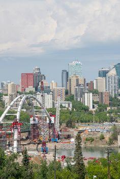One of the beautiful skyline views of Edmonton Alberta, Canada