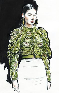 New fashion sketches face behance Ideas Arte Fashion, New Fashion, Runway Fashion, Fashion Models, Paper Fashion, Fashion Designers, Fashion Boots, Fashion Design Sketchbook, Fashion Sketches