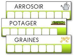 Atelier des mots des outils du jardinier Maternelle Grande Section, Daycare Themes, Kindergarten Lesson Plans, School Supplies, Montessori, About Me Blog, Science, Teaching, How To Plan
