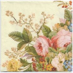 Decoupage Paper Napkins | Summer Roses | Paper Napkins for Decoupage 1