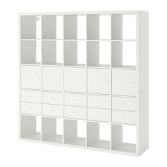 IKEA - KALLAX, Shelf unit with 10 inserts, white, Two people are needed to assemble this furniture. Different wall materials require different types of fasteners. Use fasteners suitable for the walls in your home. Hardware for wall mounting included. Shelves, Ikea Store, Ikea Wardrobe, Kallax Shelving Unit, Shelving Unit, Shelf Unit, Kallax Shelf Unit, Kallax, Ikea Storage Cabinets
