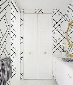 Gorgeous bathroom tile designed by Greg Natale.