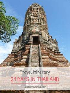 Itinerary: Three weeks in Thailand