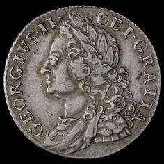 1758 George II Early Milled Silver Shilling – GVF