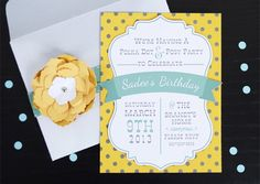 Silhouette Blog: DIY Party Week :: Polka Dot & Posy Party: Inspiration for making invitations