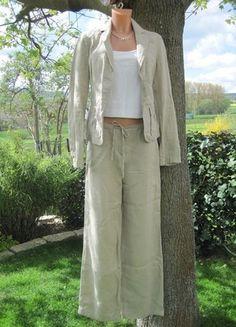 Kaufe meinen Artikel bei #Kleiderkreisel http://www.kleiderkreisel.de/damenmode/blazer-blazer/56346328-leinen-anzug-benetton