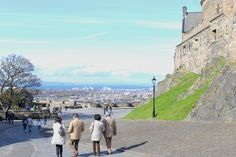 The view from Edinburgh Castle in Scotland, today on the blog!
