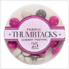 Pink + Gray + Cream Thumbtacks OMGGGGGGG