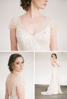 - I love the cap sleeves and the sheath dress with the beading over top.
