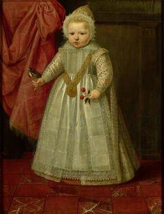 Portret van een jongetje, misschien Lodewijk van Nassau (1602-65), later heer van Beverweerd, de Leck, Odijk en Lekkerkerk, onechte zoon van Maurits, prins van Oranje en Margaretha van Mechelen, anoniem, 1604