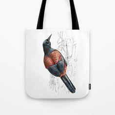Mr Tieke , New Zealand Saddleback bird Tote Bag