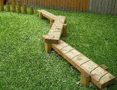Natural Balance Beam, Natural Play, Log Balance Beam, Nature Play