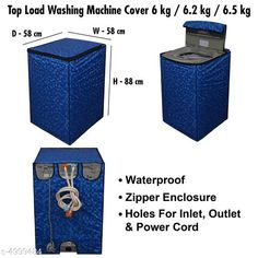 Checkout this latest Other Appliance Covers Product Name: * Stylish Washing Machine Cover* Material:Polyester Size( L X W X H ):58.42 cm x58.42 cm x 88.9 cm  Description: It Has 1 Piece Of Top Load Washing Machine Cover Work: Printed Country of Origin: India Easy Returns Available In Case Of Any Issue   Catalog Rating: ★3.9 (1904)  Catalog Name: Stylish Washing Machine Cover Vol 10 CatalogID_733632 C131-SC1624 Code: 162-4999484-666