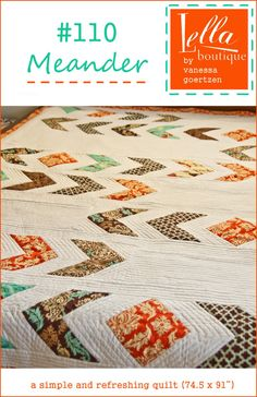 Lella Boutique: Meander quilt pattern (carrie liked this)