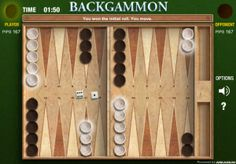 Play Backgammon online against computer. A classic logic game with a board, 15 black and white pools and 2 dice. Probability Games, Dice Games, Backgammon Game, Two Player Games, Logic Games, Archaeological Discoveries, Learning Games, Online Games, Board Games