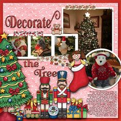 """Kate Hadfield Designs Creative Team inspiration: """"Under The Tree""""   Digital scrapbook layout by Christa"""