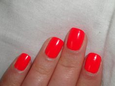 Bright Orange Nails With Design Coral Ideas Red Orange Nails, Bright Red Nails, Neon Nails, Orange Red, Art Nails, Red Coral, Bright Colors, Red Gel Nails, Blue Nail