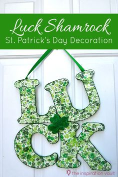 Luck Shamrock St. Patrick's Day Decoration Craft Tutorial
