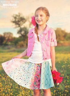 Fat Quarter Circle Skirt Pattern   AllFreeSewing.com