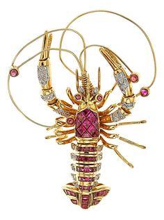 Le Vian | Ruby, Diamond, Gold Brooch