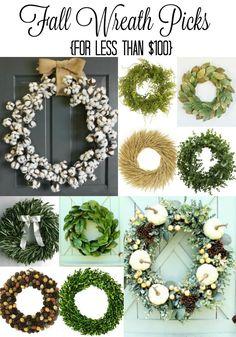 fall wreath picks