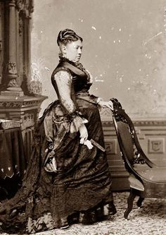 Mrs. Julia Dent Grant, amiable wife of Ulysses S. Grant.