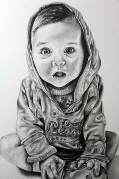 Baby child art portrait in pencil drawing by iigurrydaddyii on deviantART