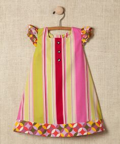 Take a look at this Pink Stripe Angel-Sleeve Dress - Infant, Toddler & Girls by Ava Loves Olli on #zulily today!