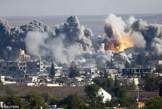 Blast: A US-led airstrike on a Syrian gas facility in Kobane killed at least eight people this afternoon. It had been held by militants from the Islamic State terror group, who expert Justin Bronk believes has made fatal errors in its attempt to capture the city