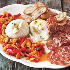Burrata with Roasted Peppers and Coppa | Williams-Sonoma
