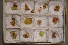 15 Piece Adamite Specimen Half Flat Ojuela Mine Mapimi Durango Mexico