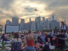 Programación del cine al aire libre en Nueva York en verano de 2016. Películas en Bryant Park, Central Park, Brooklyn Bridge Park...