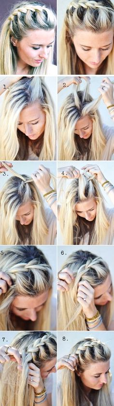 Half-Up Side French Braid | 18 Easy Fall Hairstyles for Medium Hair that are oh … Half-Up Side French Braid | 18 Easy Fall Hairstyles for Medium Hair that are oh so trendy!  http://www.tophaircuts.us/2017/05/02/half-up-side-french-braid-18-easy-fall-hairstyles-for-medium-hair-that-are-oh/