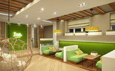 Дизайн интерьера-Оренбург. Кальянная Lime