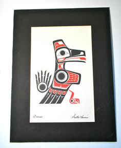 Vintage Native Haida Indian Art Print of a Grouse By by borahstyle, $25.00
