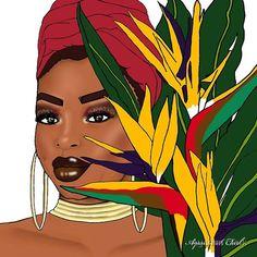 Black Girl Art, Black Girl Magic, Art Girl, Aquarius Quotes, Black Art Pictures, Illustration Art, Illustrations, Black Artwork, Afro Art