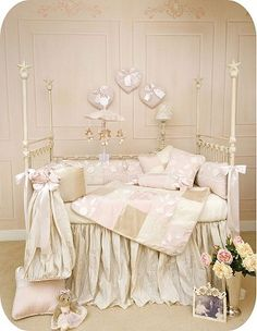 I randomly found it! Totally cute and girly bedding I saw at Goore's years ago.