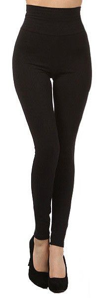 Clothing - High-Waist Tummy Control Leggings Black & Brown - Fall Fashion Winter Fashion Holiday Fashion Outfit Ideas Forever Fab Boutique #shop #fashion