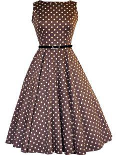 3867453fb336 Audreypolka Mocha - Kleider - Vintage-Style - Ars-Vivendi Rockabilly  Etuikleid