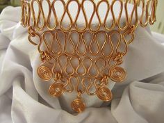 SALE 20% off, use coupon code: PIN10 EXTRA 10% off! Copper wire V shaped choker #necklace with swirls is adjustable. Request pricing for a bracelet and earrings to match.   WIRE: Wire you're interested in not listed, just l... #jewelry #jewelry #jewellery #handmade #handcrafted