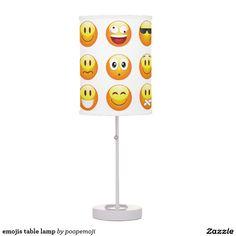 emojis table lamp
